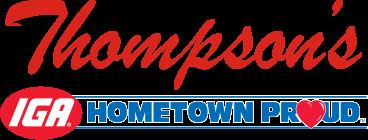 Thompson's IGA - goto home page