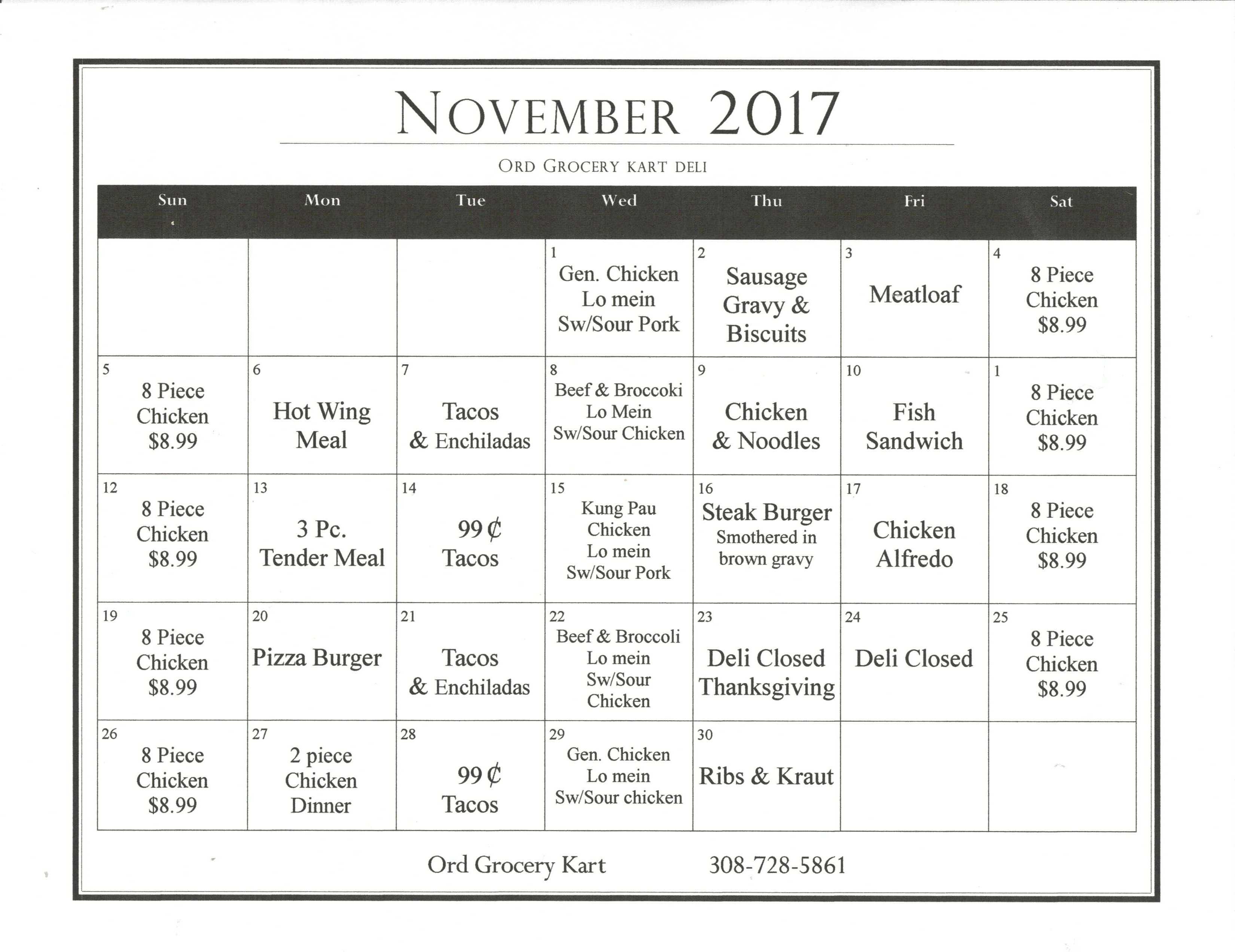 November Deli