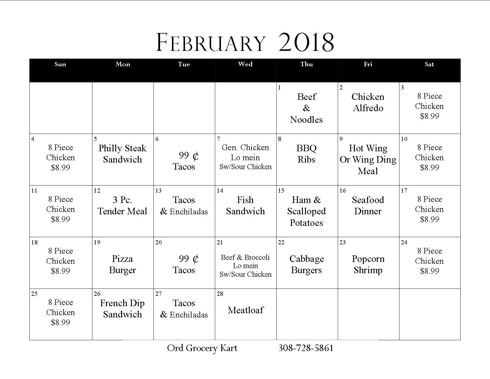 February Deli