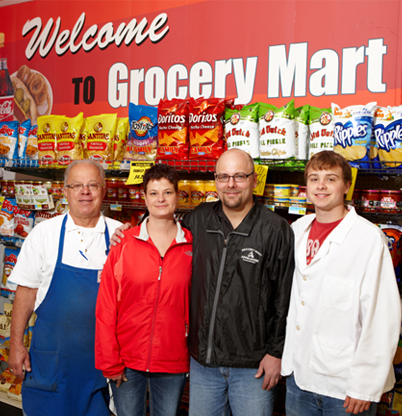 Grocery Mart Friendly Faces