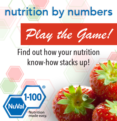 Play the Nutrition by Numbers Game
