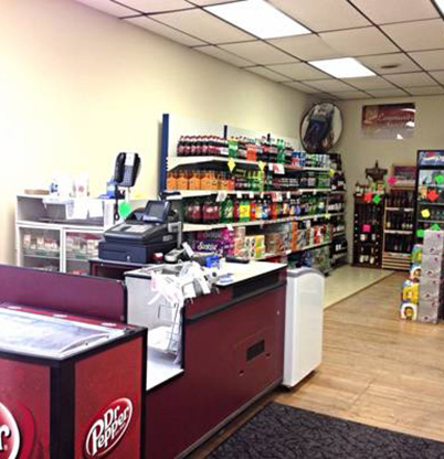 Here is 1 of our checkout stations.