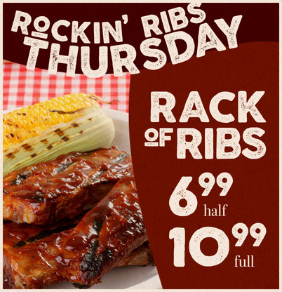 Rockin' Ribs Thursday!