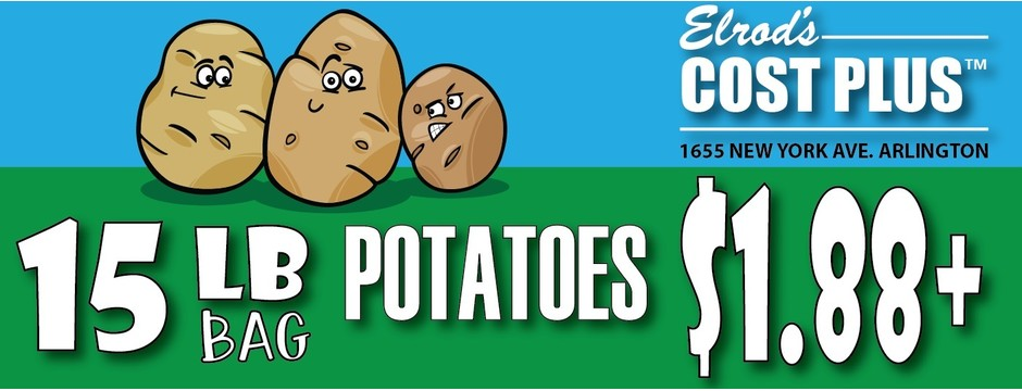 15 lb bag of potatoes for $1.88