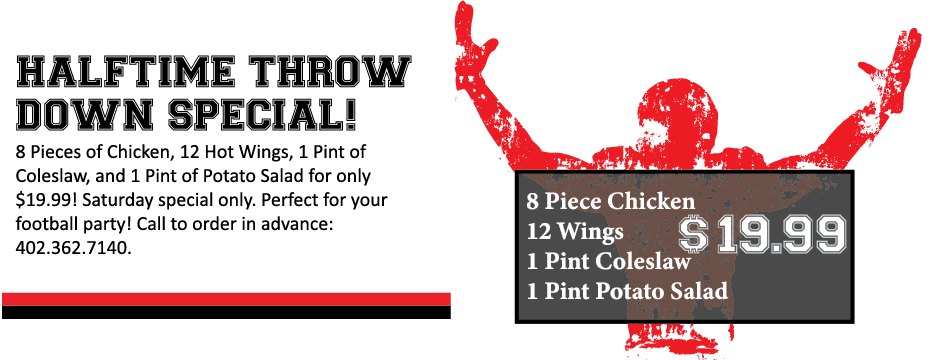 Grand Central Halftime Throw Down Special!