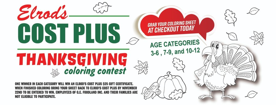 Thanksgiving Coloring Contest