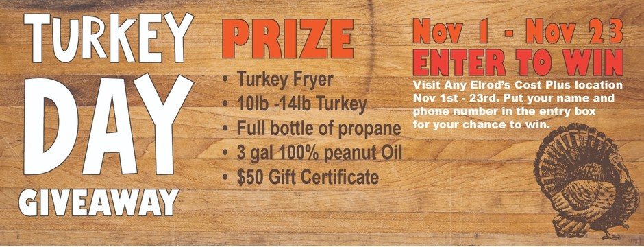 Turkey Fryer Giveaway