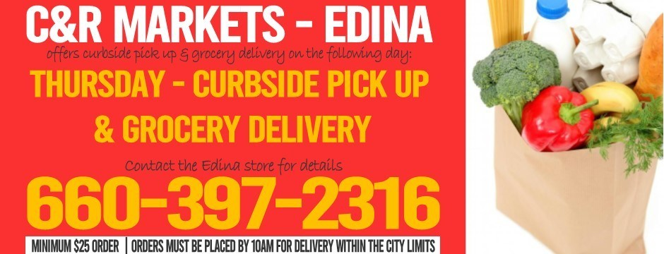 Grocery Delivery or Curbside Pick Up