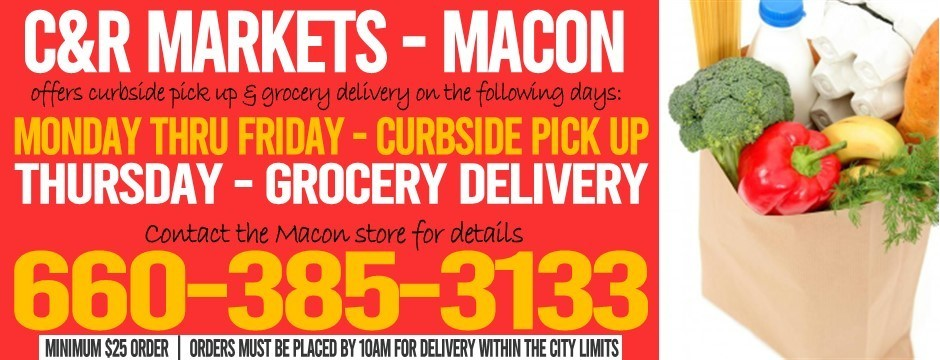 Grocery Delivery or Curb Side Pick Up - NOW AVAILABLE
