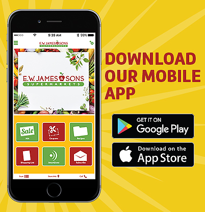 E.W. James & Sons Supermarkets Grocery Shopping Companion Mobile App
