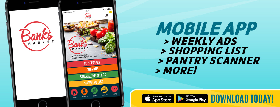 Banks Market Grocery Shopping Companion Mobile App