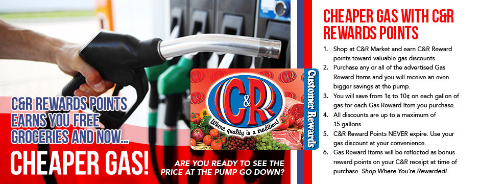 Cheaper Gas With C&R Rewards Points