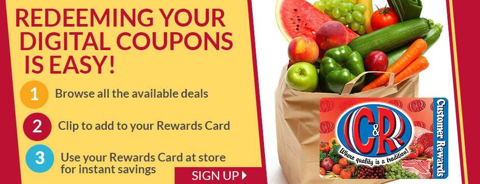 Redeeming Your Digital Coupons Is Easy!