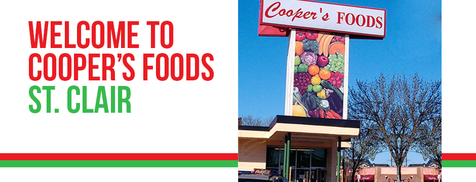 Welcome To Cooper's Foods St. Clair