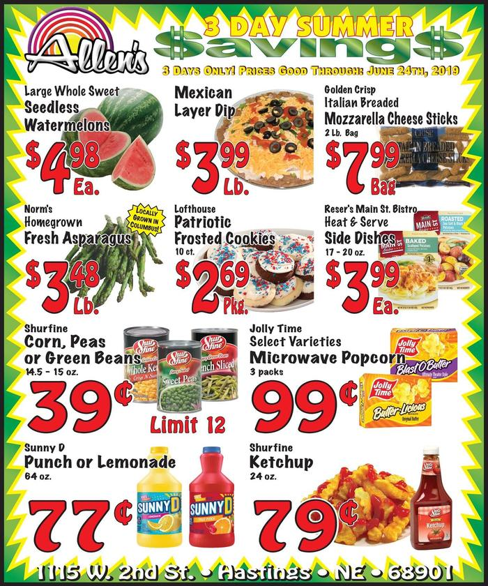 Allenu002639;s of Hastings  Ad Specials