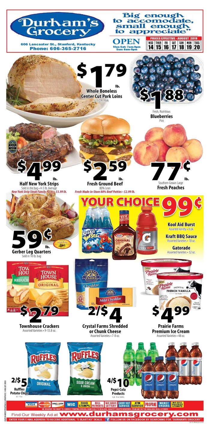 Weekly Sales Circular >> Durham S Grocery Ad Specials